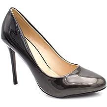 067677d1fa9315 Fashion Shoes- Damen Lack Pumps Pfennigabsatz Vorne Rund - Schuhe Pumps  Bicolor Farbverlauf Effekt -
