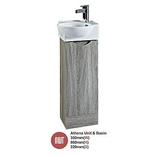 Bathroom Furniture Athena Avola Floor Standing Unit & Offset Basin (Central Handle) - 350mm(w) x 860mm(h) x 320mm (d)