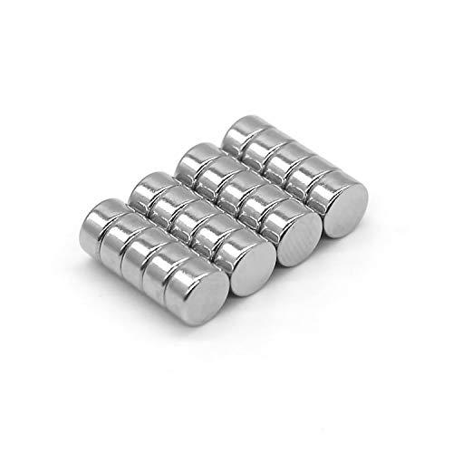 DESPANO 20 Magnete, rund, 8 x 3 Millimeter, extrem hohe Haftkraft N45, scheibenförmig - Tafel-Magnete/Kühlschrank-Magnete/Pinnwand-Magnete/Neodym-Magnete