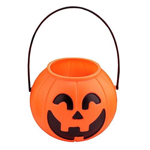 is Tasche Beutel/Kürbiseimer Handtasche Süßigkeiten Tasche Kids Lustige Korb aus Vliesstoff treat or trick 1 Stuck size 7CM (1#) (Halloween-korb)