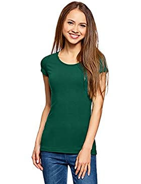 oodji Ultra Donna T-Shirt Basic Aderente (Pacco di 3)