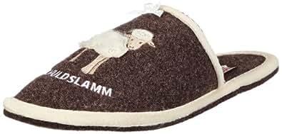 Adelheid Unschuldslamm Filzpantoffel 11230903253, Damen Pantoffeln, Braun (rindenbraun 307), EU 42/43