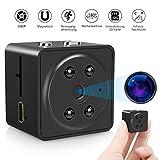 VicTsing Mini Kamera HD, tragbare kleine Kamera mit eingebautem Mikrofon, 1080P Full HD Micro Kamera mit IR Nachtsicht, Bewegungserkennung, Einstellbarer 180 ° Weitwinkellinse