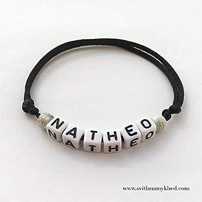 Bracelet personnalisable avec Prénom NATHEO (réversible) pour homme, femme, enfant, bébé, nouveau-né.
