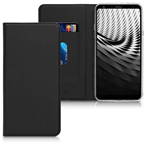 kwmobile LG Q Stylus Hülle - Kunstleder Handy Schutzhülle - Flip Cover Case für LG Q Stylus