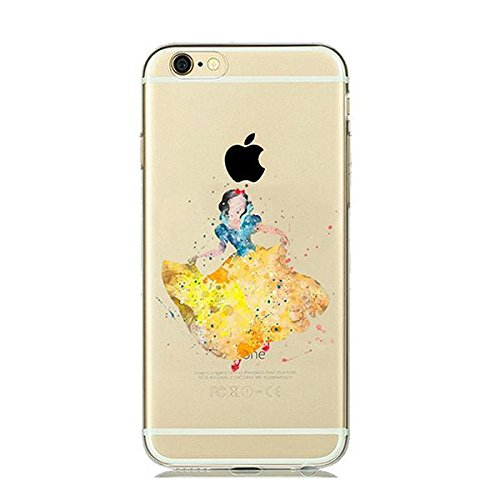 Disney Schneewitchen Princess Schutzhülle Appel Iphone Serie TPU transparent Silikon Case Appel Iphone 7 Plus/8 Plus Comic Cartoon Hülle -AcAccessoires #0020 (Iphone 7 Plus/8 Plus)