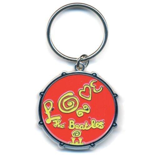 Beatles (The) - Love Drum (Portachiavi Metallo) Rock Merchandising Ufficiale