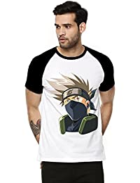 Fanideaz Cotton Kakashi Hatake Naruto Half Sleeve Raglan T Shirt For Men