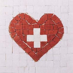 Trois petits points Kit de Mosaico de Tres pequeños Puntos, Modelo Completo Love Switzerland-Mini, 6192459600895, Universal