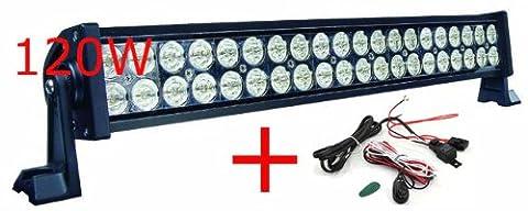 MIRACLE 120W barre led light bar Deck 4x4 SUV ATV Truck 24V12V Jeep Flood Spot Roof Lamp