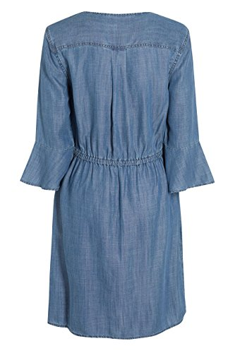 next Femme Petite Taille Robe À Lacets Bleu