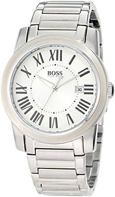 Hugo Boss 0 - Reloj de cuarzo para hombre, con correa de acero inoxidable, color plateado de Hugo Boss