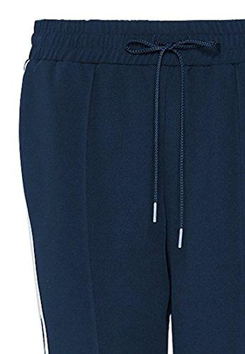 HALLHUBER Track Pants mit seitlichen Ripsbändern locker geschnitten Marine