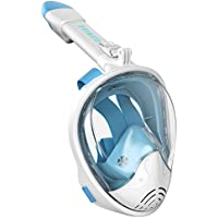 G2RISE SN01 Full Face Snorkel Mask with Detachable Camera Mount, Anti-Fog and Foldable Design, Advanced Breathing System for a Safe Adults/Kids Snorkeling Experience