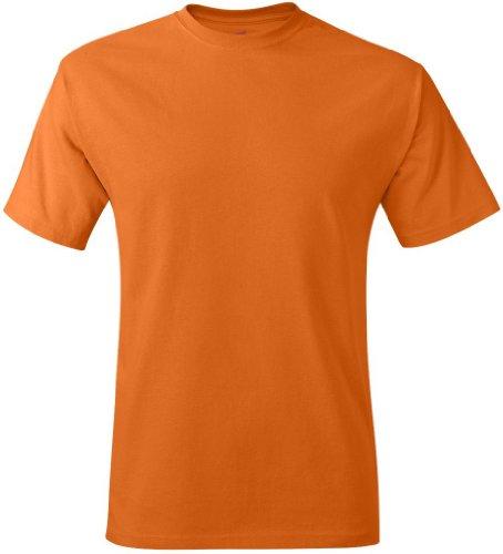 Hanes ComfortBlend EcoSmart Crewneck Mens T-Shirt Anaranjado Safety