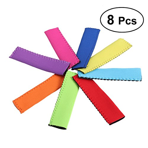 bestonzon 6pcs-Halter Popsicle Eis Pop antifreezing Ärmel Popsicle wiederverwendbar, Grau
