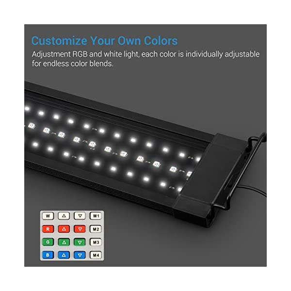 NICREW Planted LED Aquarium Light, 24/7 Automated Aquarium Lighting, LED Fish Tank Light with Controller,Upgraded…
