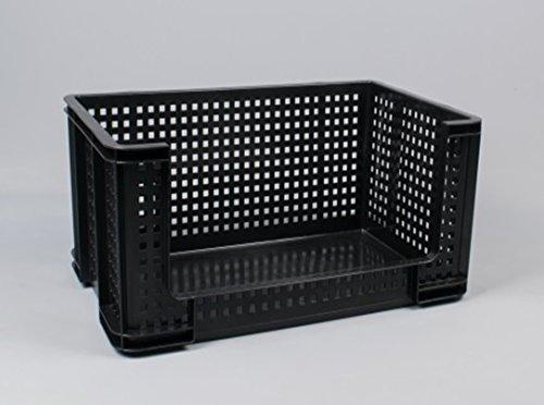 Really Useful Box 64Liter extra stark Offene Vorderseite Box Kommissionierung Stapeln, belüftet Kunststoff Boxen verstärkte Untergründen–Industrie Garage Lager.