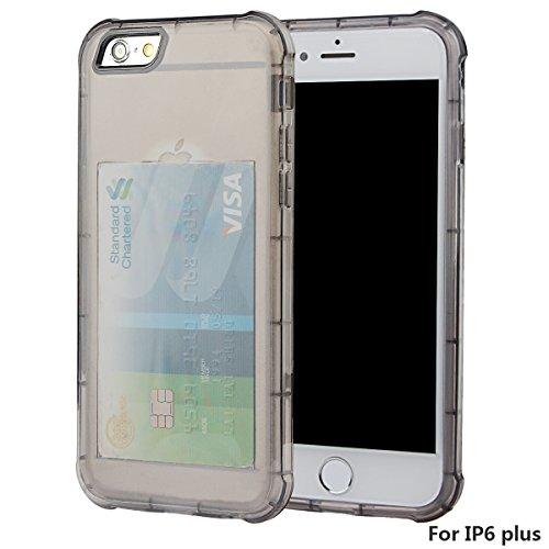 """xhorizon [Ultra Hybrid] [Air Cushion] Shock-Absorption Stoßfänger und Anti-Scratch Clear Zurück Ultra-schlanke Schutz-Clear Cover mit versteckten Card Slot für iPhone 6 Plus/iPhone 6S Plus[5.5""""] #2"""