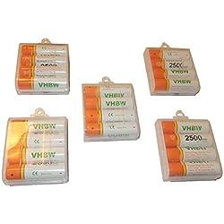 20 Pilas / Baterías vhbw AA Mignon HR6 LR6 2500mAh para Leica Disto D8, Makita SK102, SK102Z, Airwick Lufterfrischer, Omron M500, BF-511