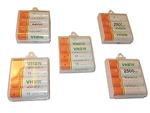 vhbw 20 x AA Mignon HR6 LR6 Batteria 2500mAh per General Imaging Z4300, Sanyo VPC-S1414, Xacti VPC-S6, VPC-S7, VPC-S50, VPC-S60, VPC-S70
