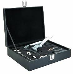 Idea Regalo - Ibili 781601 - Cofanetto accessori per vino, 9 pezzi