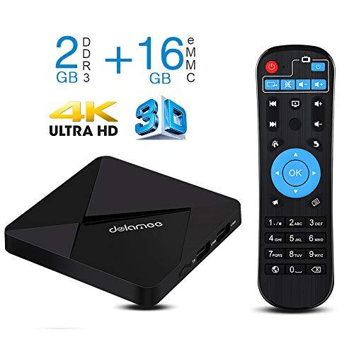 TV Box Android 7.1-Dolamee D5 2GB RAM + 16GB ROM Mini Smart TV Box,4K HD/3D/Amlogic Quad Core S905W 64 bits/Bluetooth...