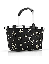 Reisenthel BK7046 Carrybag Stars, Polyester, schwarz, 48 x 28 cm