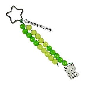 Pracht Creatives Hobby 5935-12031 - Cadena para Personalizar con Llavero, Color Verde Claro, Juego de Manualidades con 20 Cuentas para Regalar en la Escuela, para la Bolsa de azúcar