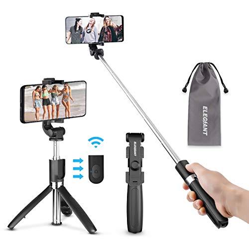 ELEGIANT Bastone Selfie Wireless Asta Selfie Bluetooth con Treppiede Asta Estendibile per 22 37 Pollici iPhone XS Max XR x 8s Samsung Galaxy s10 s8