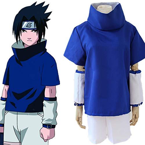 Lackingone Naruto Kostüm von Sasuke Uchiha,Blau - Naruto Sasuke Uchiha Cosplay Kostüm
