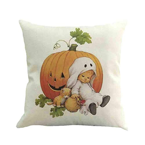 BZLine Kissenbezug, Halloween Ghost Kissenbezug Sofa Taille Wurf Kissenbezug Home Decor Kissenhüllen mit Reißverschluss Hochwertige Jersey Qualität 45x45 cm (I)