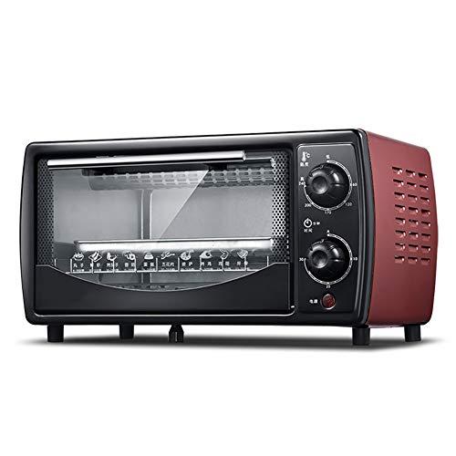 Double-Layer Haushalt Elektro-Ofen, 12L Multifunktionsofen Mini und schöne Art und Weise Waschbar Toaster für Heim und Büro (Brown) -