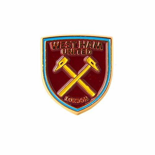 West Ham United FC Fußball Wappen Anstecknadel (Einheitsgröße) (Bordeaux)