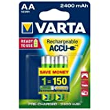 Varta Batterie rechargeable AA Mignon 2 2400 mAh (Protection contre la décharge)