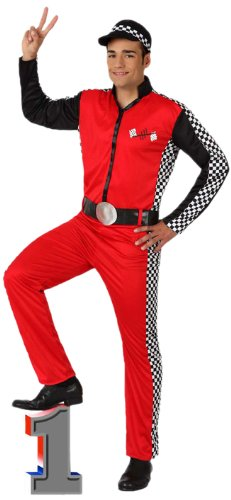 Atosa 8422259156260 - Verkleidung Rennfahrer, Erwachsene (Auto Rennen Kostüm)