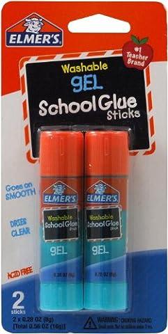 Elmer's Washable School Gel Glue Sticks 2/Pkg-.28oz