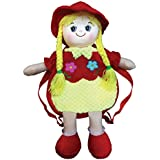 Starwalk Plush Doll Toy Bag With Flower Embroidery, Red/Yellow (50cm)