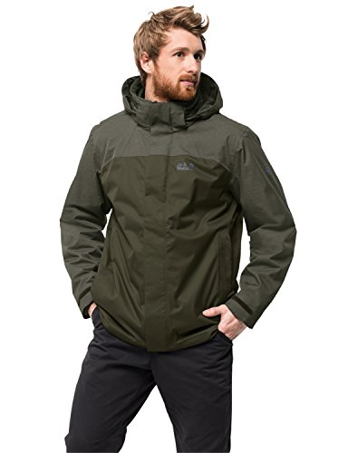 Jack Wolfskin Herren Echo Lake Men 3-in-1-JackeWasserdicht Winddicht Atmungsaktiv 3in1-jacke, Malachite, XXXL