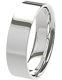Nuevo sólido Argentium plateado 5mm pesado soporte de corte con forma de confort Fit Unisex anillo de boda banda disponibles en todos los tamaños de H–Z + 3| fabricado en el Reino Unido. & Hallmarked