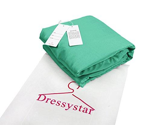 Dressystar Robe de soirée/bal/gala mini courte,bustier,à col en cœur à strass en tulle Vert