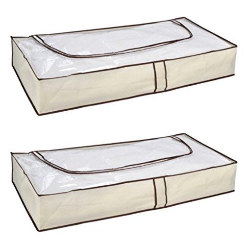 3 Stück Kommode (Loose und Germershausen GbR 1-6 Stück Unterbettkommode Unterbett Kommode mit Reißverschluß Aufbewahrung (2))