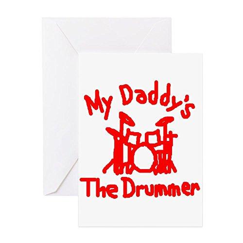 CafePress-My Daddys der Drummer???-Grußkarte, Note Karte, Geburtstagskarte, innen blanko, glänzend