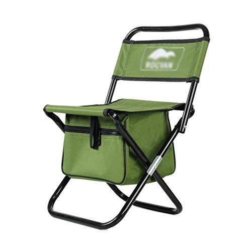 YUWJ Tragbarer Klappstuhl für Campinghocker, der tragbare, leichte Lagerhocker im Freien mit hoher Tragegriffhöhe und Aufbewahrungstasche für Strandgrill-Reisepicknick eignet,Green,Large