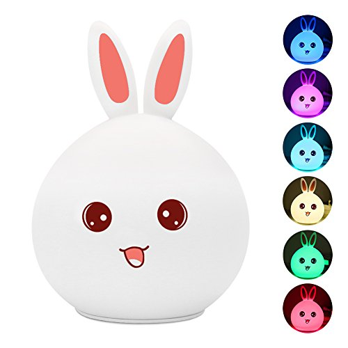children-night-light-bunny-rabbit-lamp-portable-silicone-led-multicolor-touch-sensor-easter-gift-for