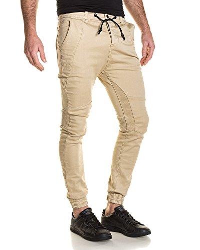 BLZ jeans - Jogger Hose Man gerippt beige Beige