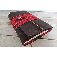 Protège livre fait main, couverture livre format poche, couvre livre en tissus lin coton, cadeaux, anniversaire, voyage, noël
