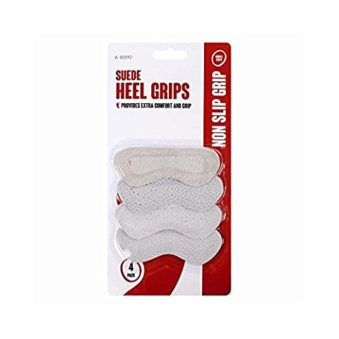 4 Pack Suede Heel Grips One Size Fits All Shoe Care Comfort Long Walk Stiletto.