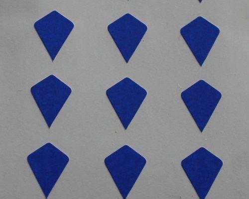 150 Etiquetas, 10x7mm Forma Cometa, Azul, pegatinas autoadhesivas, Minilabel Formas