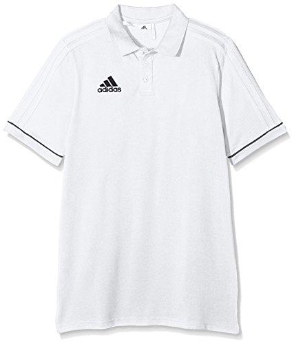 adidas Jungen Tiro 17 Cotton Poloshirt, White/Black, 152 (Adidas Langarm-polo)